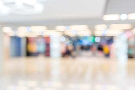 Blur of shopping center