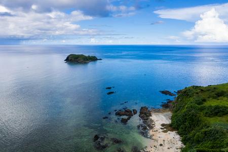 Aerial view of Tropical lagoon of Ishigaki island of Okinawa 写真素材