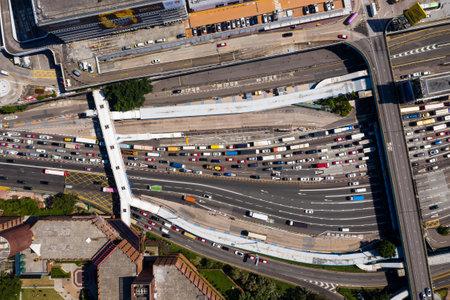 Hung Hom, Hong Kong- 07 November 2018: Hong Kong city traffic