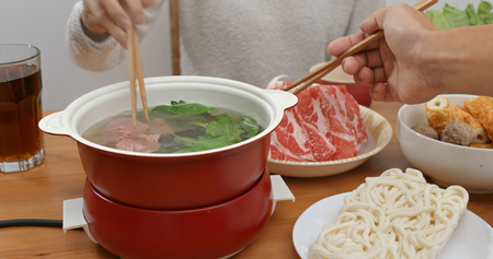 Chinese style hot pot at home