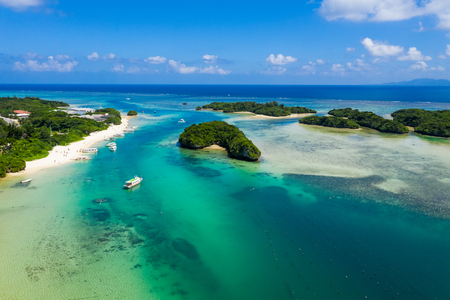 Top view of Kabira Bay in ishigaki island of Japan 写真素材