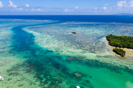 Top view of Beautiful sea in ishigaki