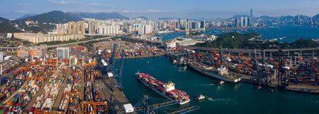 Kwai Tsing , Hong Kong 12 February 2019:- Hong Kong container port Editoriali