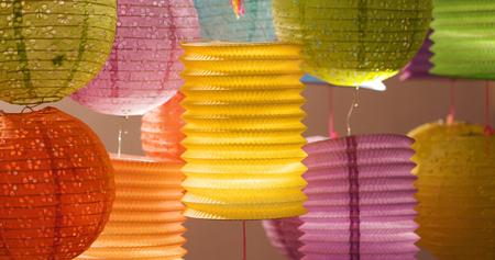 Lanterna cinese tradizionale per il festival di metà autunno Archivio Fotografico