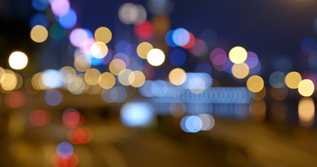 City night view in blur