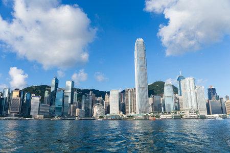 Victoria harbor, Hong Kong 24 June 2016:- Hong Kong landmark Editorial