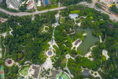 aerial view of Tin Shui Wai central park
