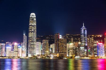 Victoria harbor, Hong Kon, 22 June 2016:- Hong Kong landmark