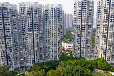 Hong Kong residential district Imagens