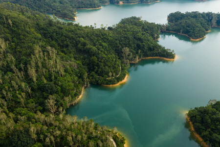 Reservoir in Hong Kong from top Stock Photo