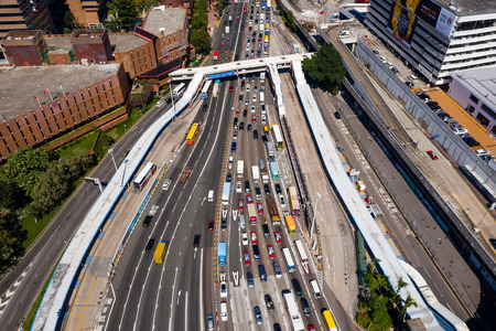 Hung Hom, Hong Kong, 07 November 2018:- Traffic in cross harbor tunnel in Hong Kong Editorial