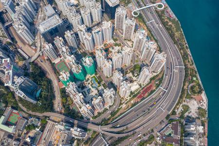 Top down view of Hong Kong city Zdjęcie Seryjne