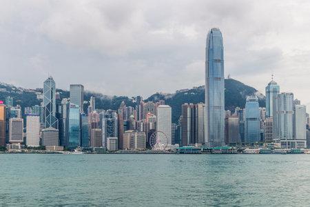 Victoria harbor, Hong kong 17 August 2018:- Hong Kong city Editorial