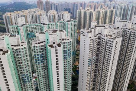 Tin Shui Wai, Hong Kong, 26 August 2018:- Hong Kong apartment building