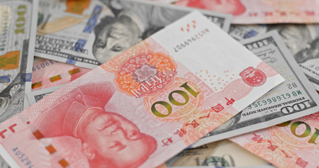 Chinese banknote RMB and USD