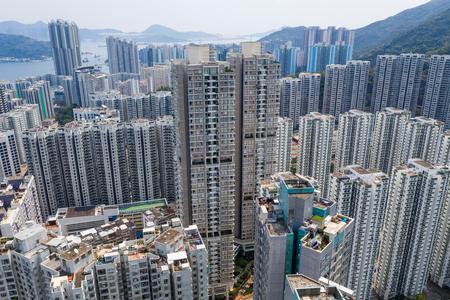 Miasto Hongkong w ciągu dnia