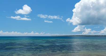 Aerial view of the sea in ishigaki island