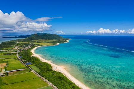 Tropical lagoon of Ishigaki island of Japan