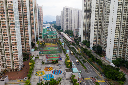 Hong Kong residential district Stock Photo
