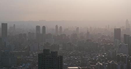 Luchtvervuiling van de stad van taipe