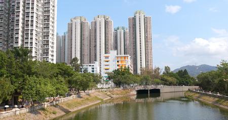 Hong Kong residential building at outdoor