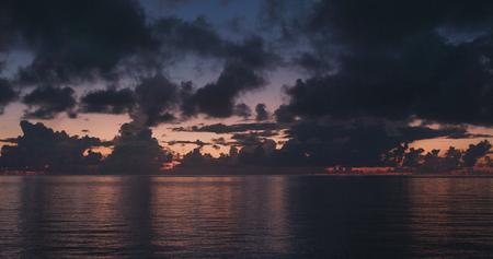 Sunrise and sea in ishigaki