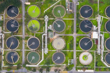 Sha Tin, Hong Kong 17 March 2019: Hong Kong Sewage treatment plant Editorial