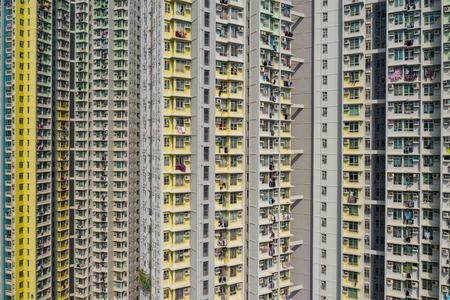 Hong Kong building facade Imagens