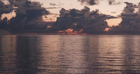 Beautiful Sunrise and sea in ishigaki island of Japan