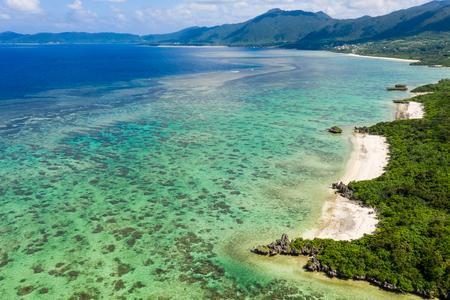 Top view of Kabira Bay in ishigaki island of Japan 写真素材