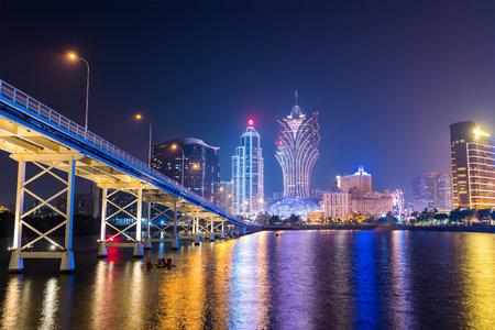 Macau, 21 January 2019: Macau city at night Redakční
