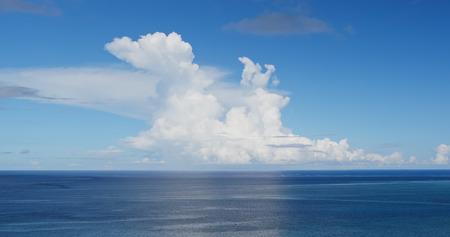 Clear blue sky and sea in ishigaki island