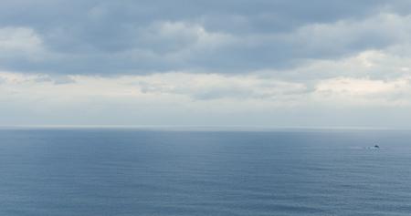 Superficie del mare e cielo Archivio Fotografico