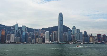 Victoria harbor, Hong Kong, 04 November 2018:- City of Hong Kong Editorial
