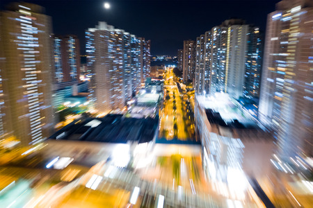 Blur of city night