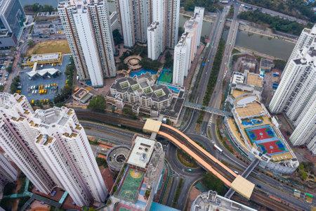 Tin Shui Wai, Hong Kong 03 February 2019: Hong Kong residential district