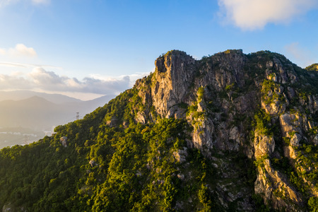 Lion Rock mountain under sunset 版權商用圖片
