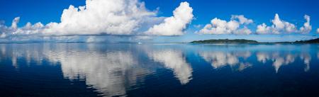 Panoramic sky and sea in ishigaki 写真素材
