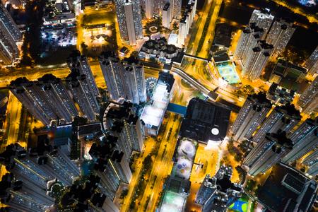 Hong Kong city at night Stok Fotoğraf