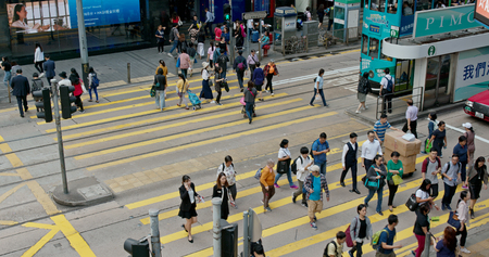 Central, Hong Kong- 22 November 2018: Hong Kong traffic
