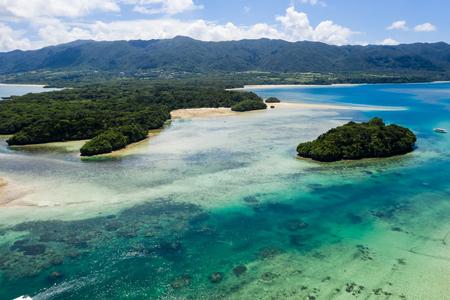 Aerial veiw of Kabira Bay in ishigaki island