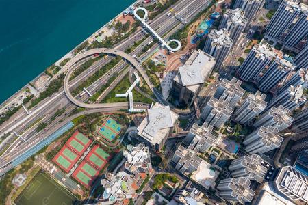 Aerial view of Hong Kong city Zdjęcie Seryjne