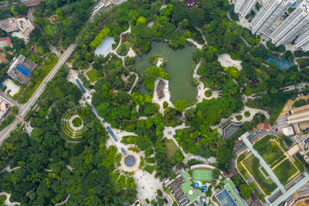 Tin Shui Wai, Hong Kong, 26 August 2018:- Tin Shui Wai central park Editorial