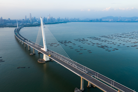 Shenzhen Bay Bridge 스톡 콘텐츠