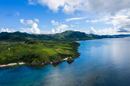 Aerial view of ishigaki island