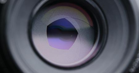 Adjusting Camera lens aperture