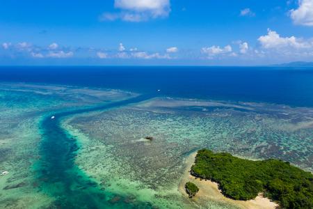 Top view Ishigaki island of Japan