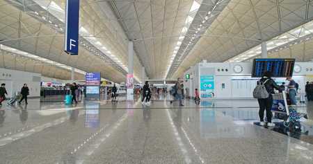 Chek lap kok, Hong Kong- 24 November 2018: Hong Kong international airport