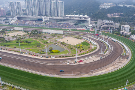 Sha Tin, Hong Kong, 17 March 2019: Sha Tin racecourse in Hong Kong