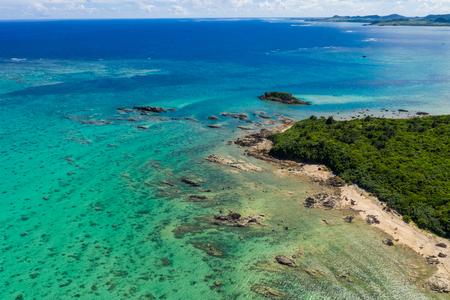 Tropical lagoon in Ishigaki island